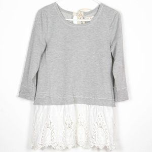 Altar'd State Crochet Embroidered Scallop Hem Top
